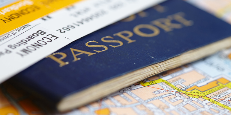 passport travel cruise documents