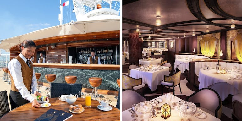 ship within a ship luxury dining smackdown