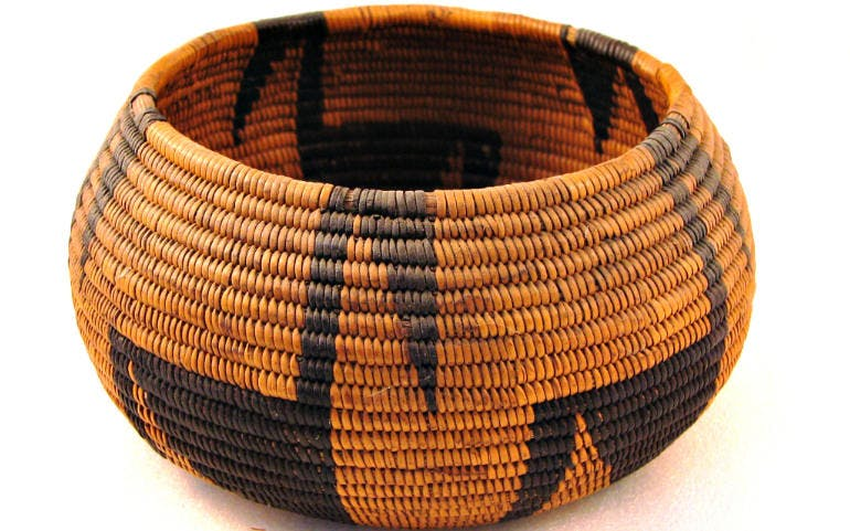ketchikan alaska native art shopping basket