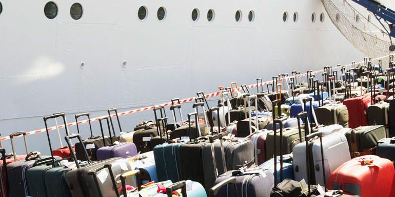 luggage cruise ship dock