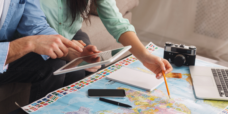plan trip cruise couple vacation from home