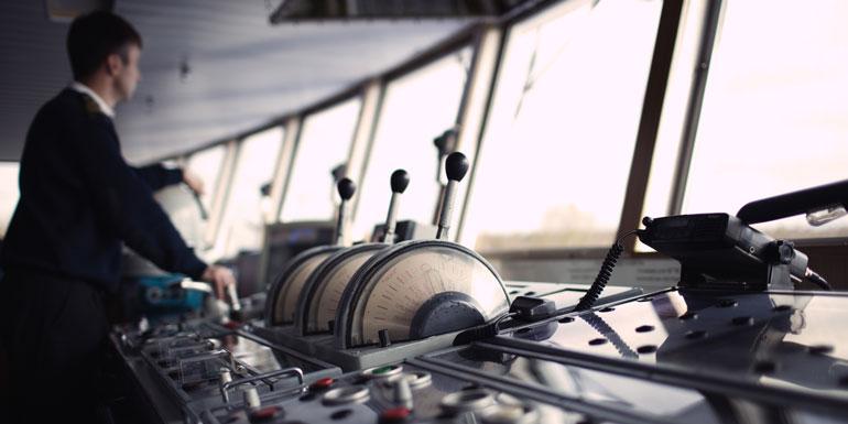 cruise ship bridge helm