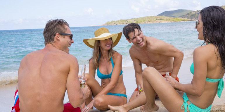 group cruise beach