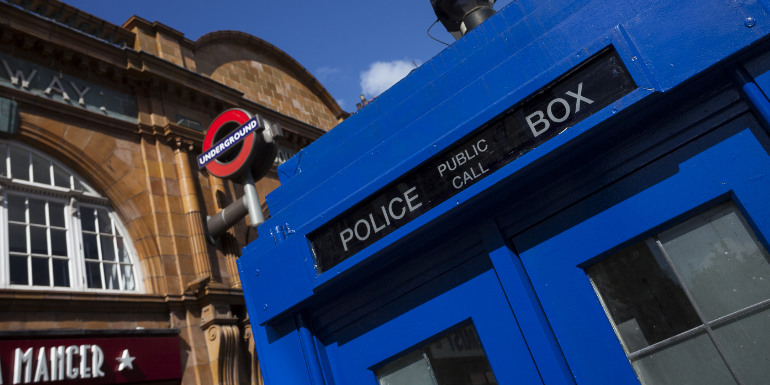 doctor who tardis blue police box