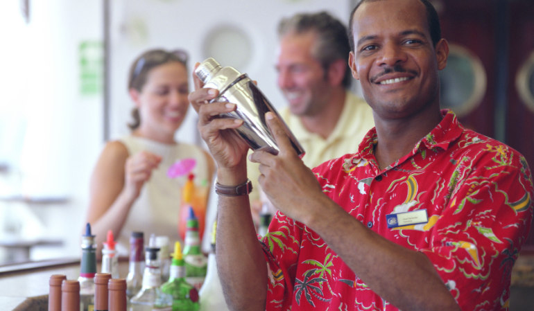 bartender bar drinks first time cruise