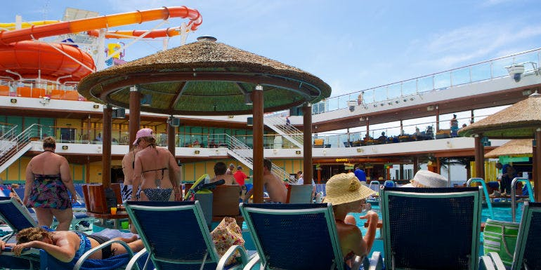 cruise ship lido deck pool chair