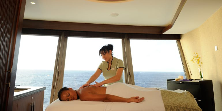 spa treatment too expensive cruise ship