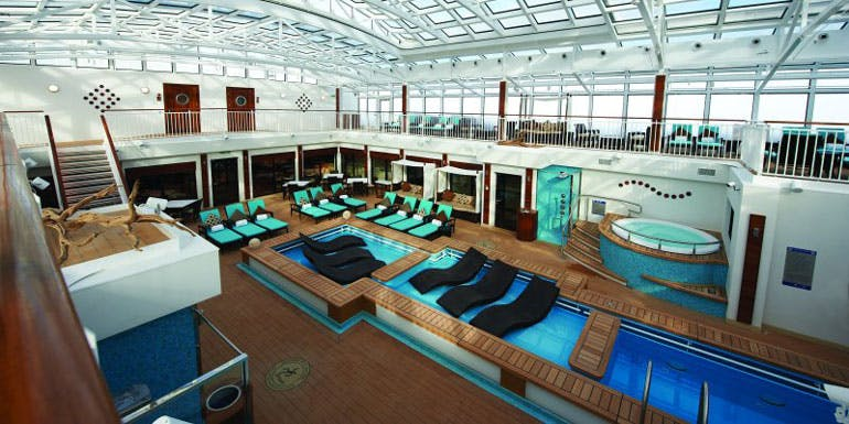 cruise vip norwegian haven courtyard pool