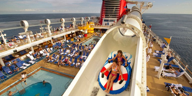 aqua duck cruise ship water slide