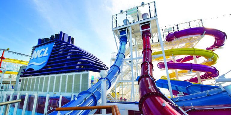 free fall norwegian cruise ship breakaway