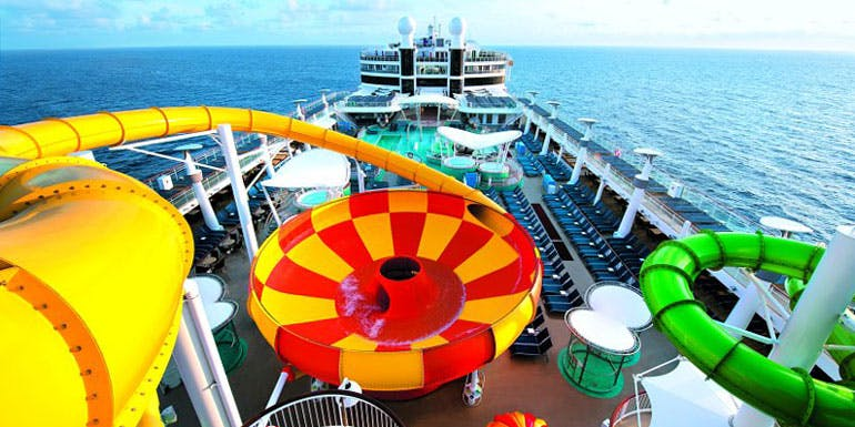 norwegian epic plunge cruise water slide