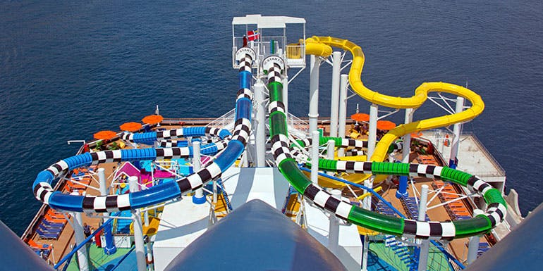 carnival speedway splash water slide cruise