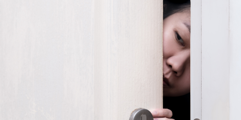 girl peeking door weirdest reviews 2019