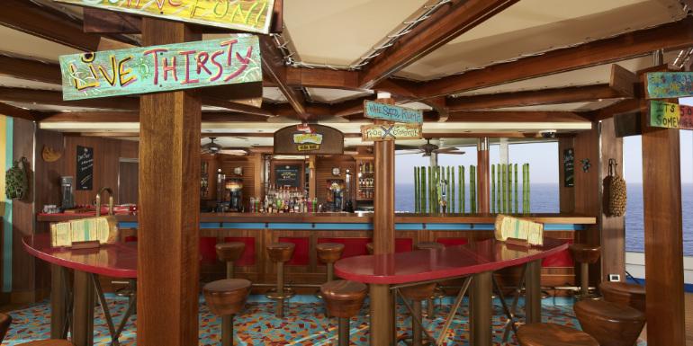 carnival redfrog rum bar lido deck venue