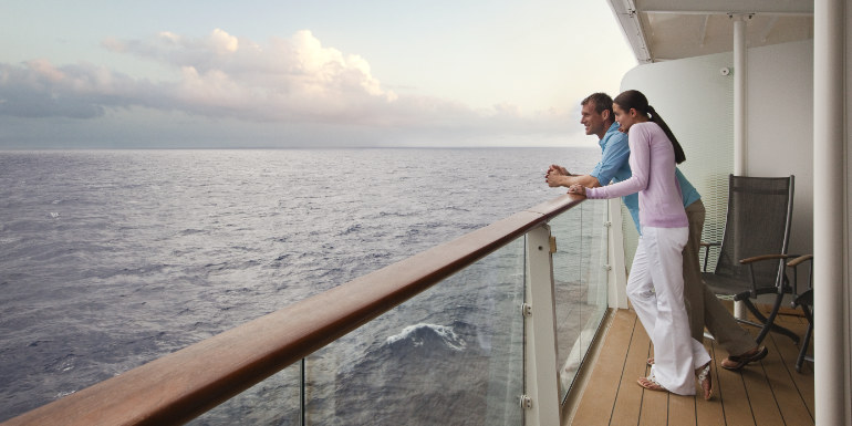 couple balcony cruise worst forget patience