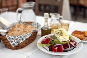 corfu greece bread and wine