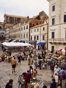dubrovnik market gunduliceva square croatia