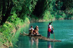 rafting on the martha brae falmouth jamaica