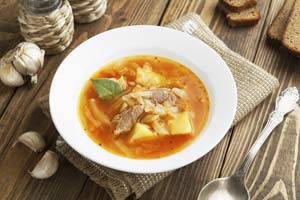 russian cabbage meat soup st petersburg