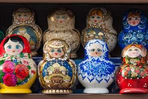 russian nesting dolls table st petersburg