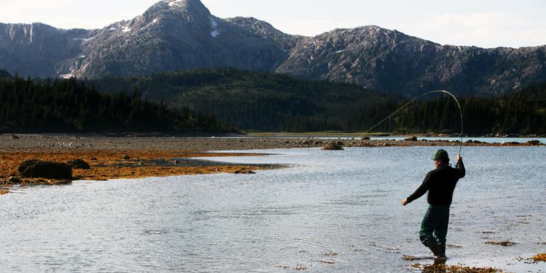 fly fishing alaska shore excursion cruise