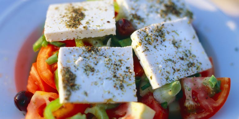 athens greece greek salad food guide