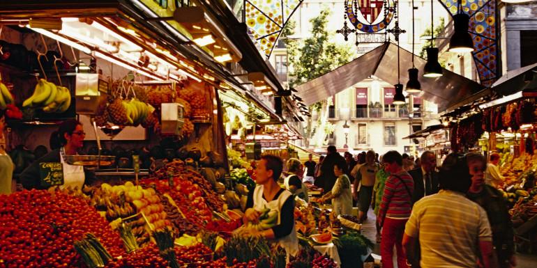la boqueria barcelona spain market fruit