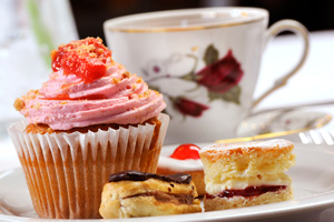 tea cup with pastries southampton england