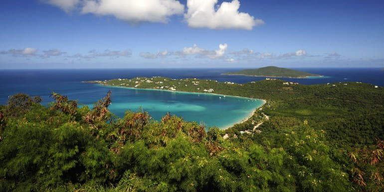 magens bay st. thomas beach caribbean