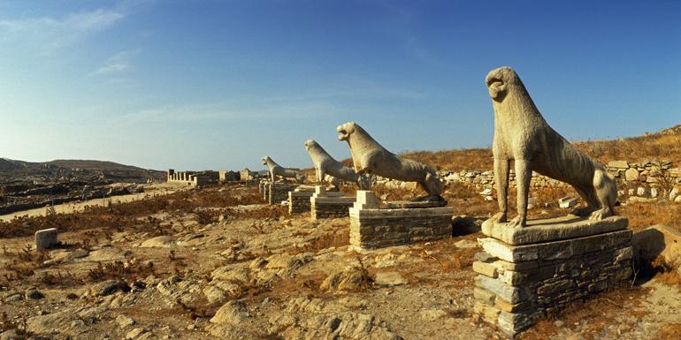 delos mykonos statues mediterranean cruise tours