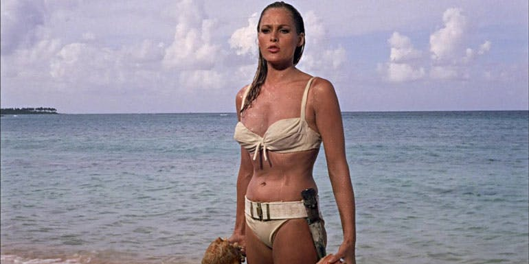 ursula andress bond beach