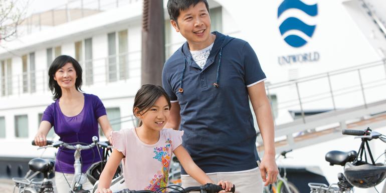 uniworld cruise kids bikes
