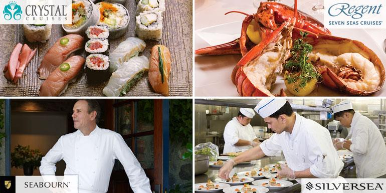 dining luxury cruise crystal seabourn silversea