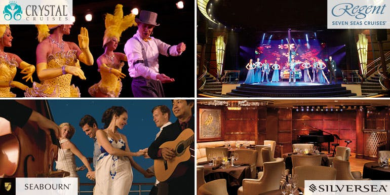 luxury entertainment crystal regent silversea seabourn
