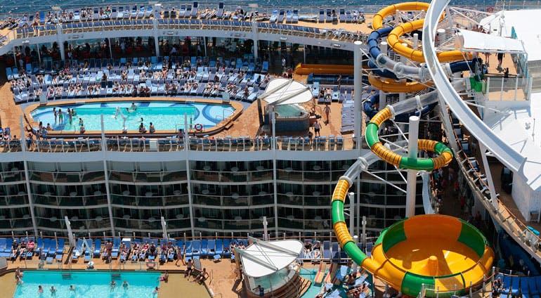 royal caribbean harmony slides pools