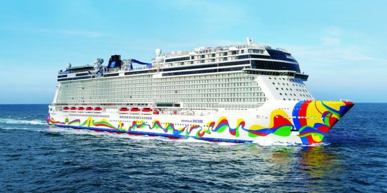 norwegian encore best ships 2020 aerial