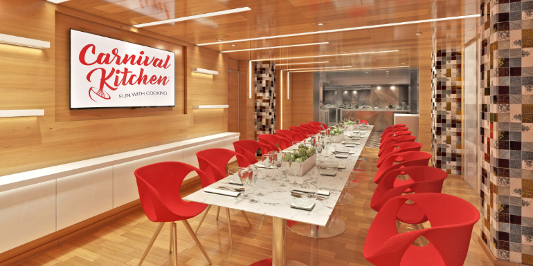 carnival kitchen culinary workshop dining room