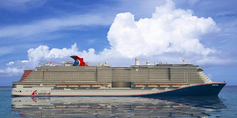 mardi gras carnival ship cruise exterior