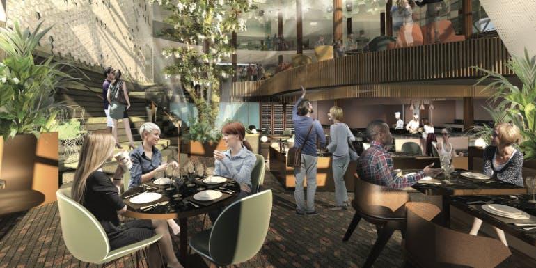 celebrity edge eden dining ship cafe