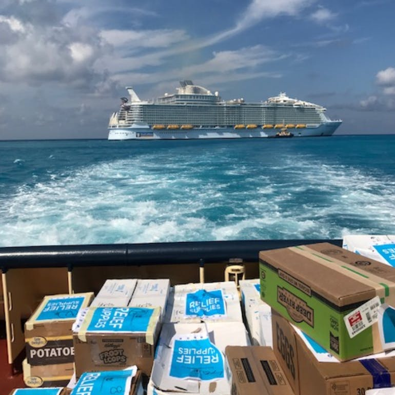 hurricane dorian relief royal caribbean supplies