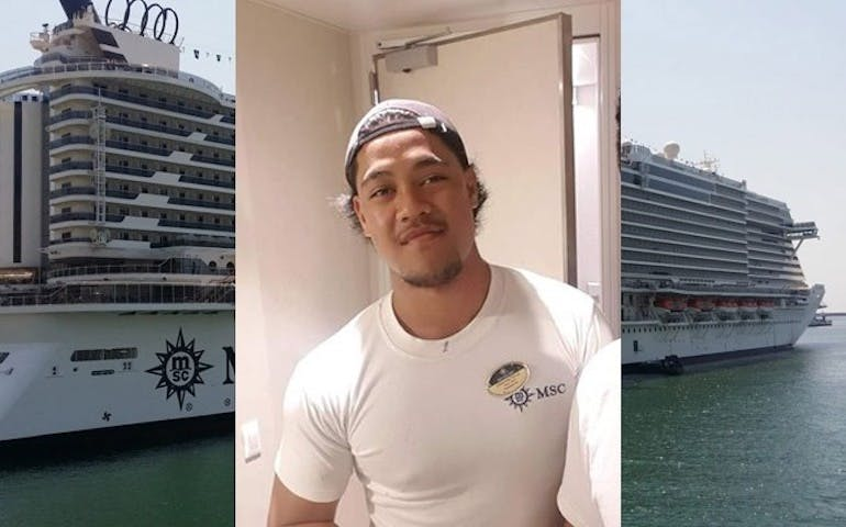 msc seaview crew member saves woman
