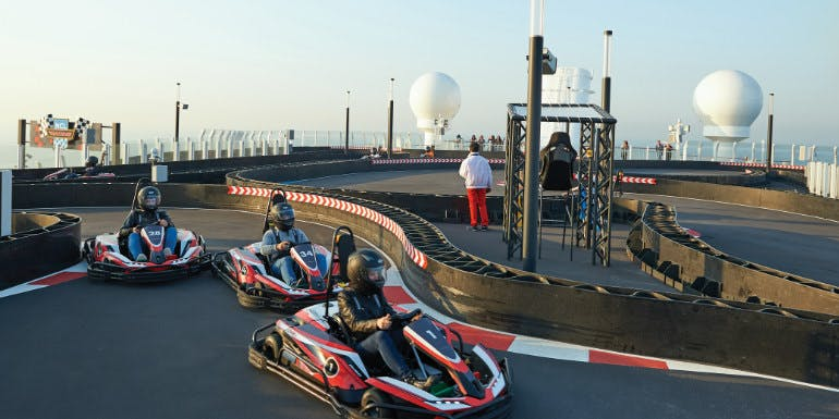 norwegian bliss go kart cruise ship