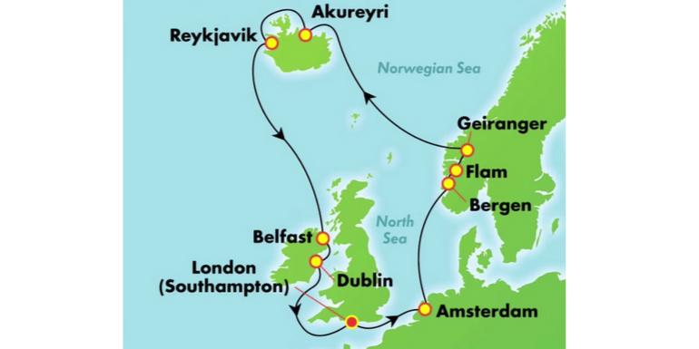 Norwegian Spirit Map