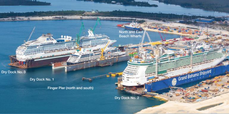 grand bahamas shipyard oasis dry dock