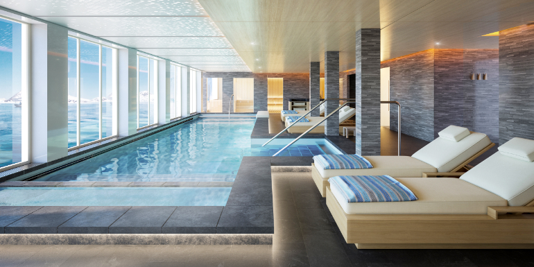 viking expedition cruise nordic spa hydrotherapy pool