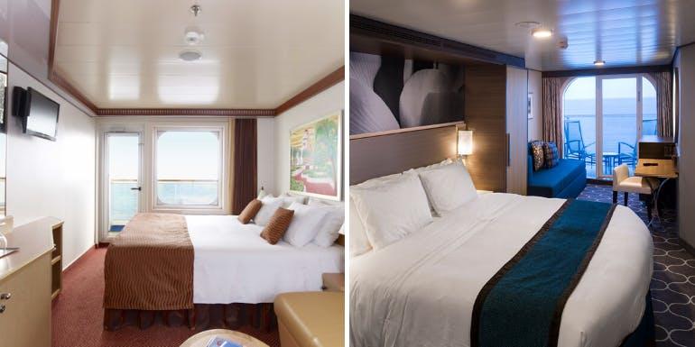 carnival royal caribbean balcony cruise cabins