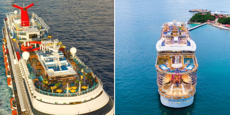 carnival royal caribbean cruise higlights