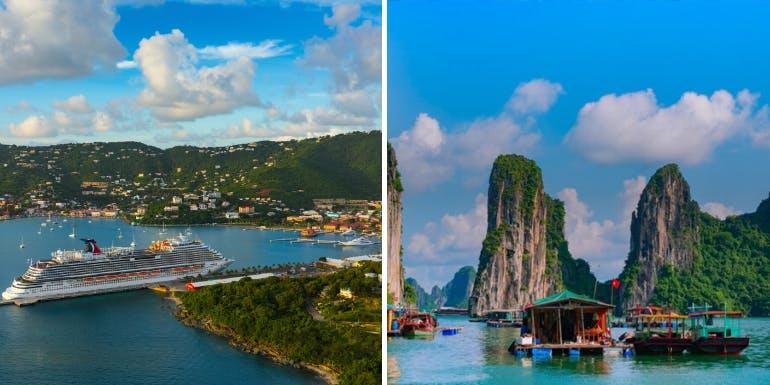 carnival royal caribbean cruise itineraries destinations