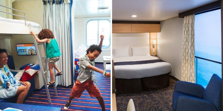 carnival royal caribbean specialty cabins