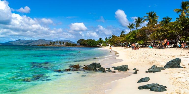 virgin islands sapphire beach caribbean